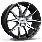 ASA Wheels GT3 8.00X18 5X120 ET35.0 NB72.5 zwart / front gepolijst