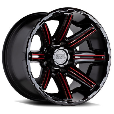RAMPAGE GLOSS BLACK W/RED MILLED SPOKES