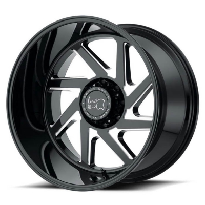 SWERVE GLOSS BLACK W/DOUBLE MILLED SPOKES