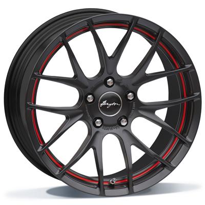 RACE GTS-R MATT BLACK WITH RED UNDERCUT AREA