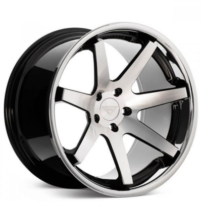 Ferrada by Wheelpoint FR1 MACHINE BLACK / CHROME LIP