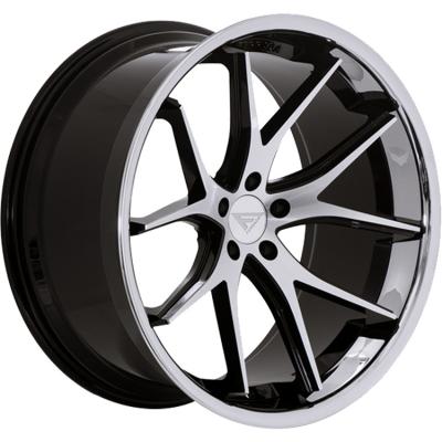 Ferrada by Wheelpoint FR2 MACHINE BLACK / CHROME LIP