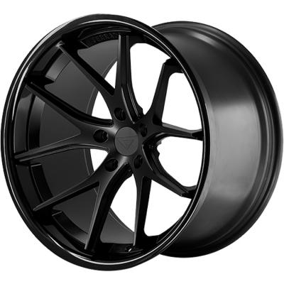 Ferrada by Wheelpoint FR2 MATTE BLACK / GLOSS BLACK LIP