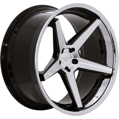 Ferrada by Wheelpoint FR3 MACHINE BLACK / CHROME LIP