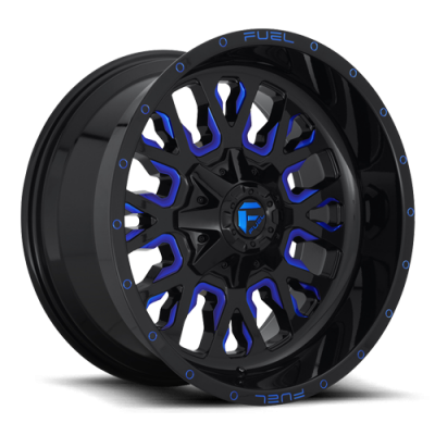 FC645 STROKE GLOSS BLACK BLUE TINTED CLEAR