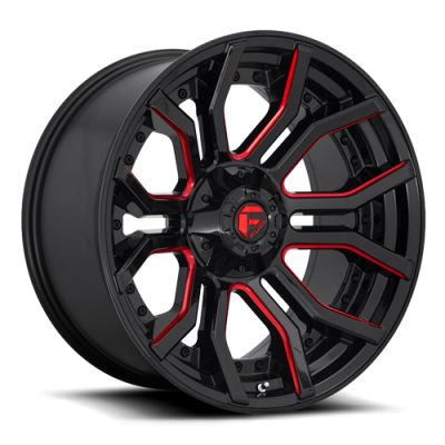 FC712 RAGE GLOSS BLACK RED TINTED CLEAR