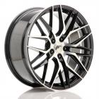 JR wheels JR28 9.00X21 Blanco ET15.0 NB74.1 Gloss Black Machined