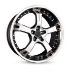 Keskin KT10 9.50X18 5X100 ET25.0 NB63.4 matt black front polish steel lip