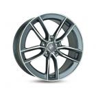 Keskin KT21 7.50X17 5X112 ET45.0 NB66.6 palladium front polish
