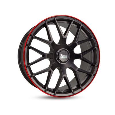 GT1 MATT BLACK LIP RED