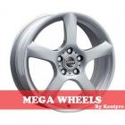 Mega Wheels by Kentyre Silvera 5.50X13 4X108 ET35.0 NB73.2 silver