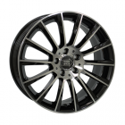 Mille Miglia MM047S 9.00X20 5X120 ET35.0 NB64.1 Zwart Glans / Gepolijst