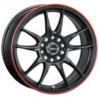 Motec Nitro 8.5X19 5X112/120 ET35.0 NB72.6 zwart mat rode ring