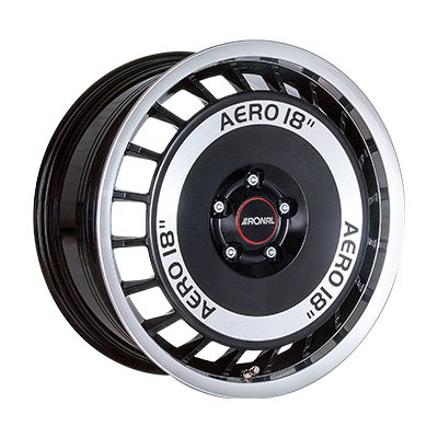 R50 AERO ZWART GLANS / GEPOLIJST