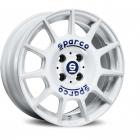 Sparco TERRA 7.0X16 4X108 ET42.0 NB63.4 WHITE + BLUE LETTERING
