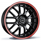 ASA Wheels AR1 Race 8.50X19 5X112 ET45.0 NB72.5 zwart glanzend met gekleurde bestickering