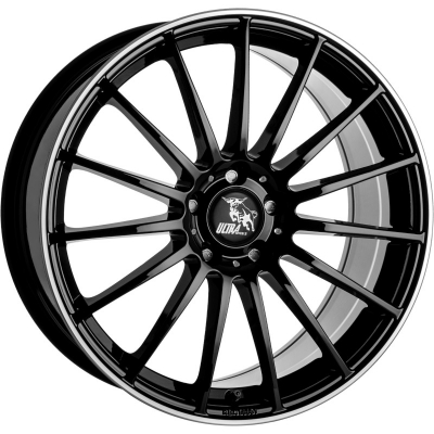 Ultra Wheels SPEED ZWART GEPOLIJSTE LIP