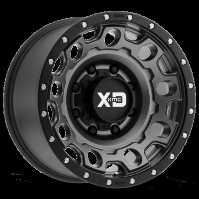 XD129 HOLESHOT MATTE GRAY W/ BLACK RING