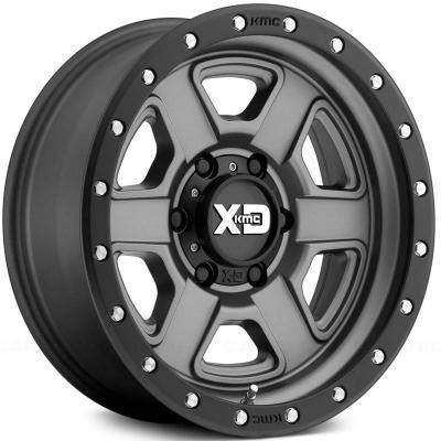 XD133 FUSION OFF-ROAD (XD1334) SATIN GRAY W/ S-BLACK LIP