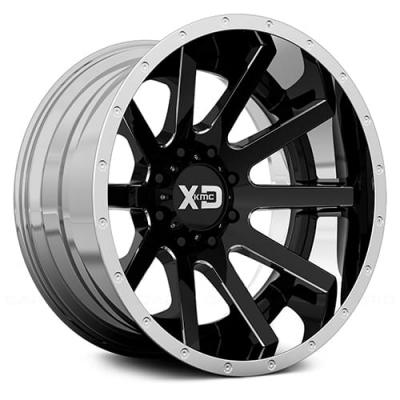 XD200 HEIST (XD2003) GLOSS BLACK MILLED CENTER W/ CHROME LIP