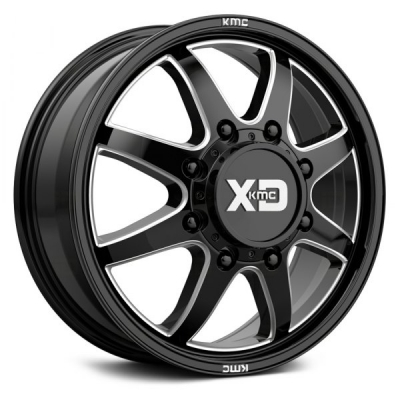 XD845 GLOSS BLACK MILLED - FRONT