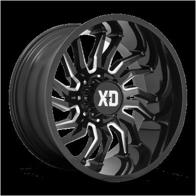 XD858 GLOSS BLACK MILLED